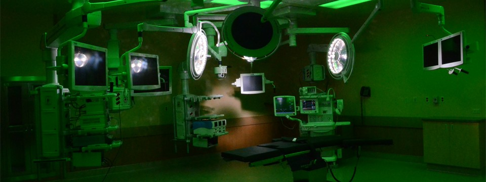 Operating Room Under Green Light